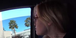 Young Girl Swallows Cum At POV Auditions