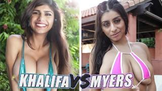 Sexy Big Tits Pornstars Mia Khalifa And Violet Myers Fuck Off Compilation